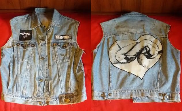 Swans, love and sleeveless denim jackets
