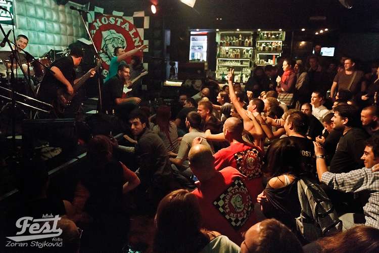 Mosh in front of the stage