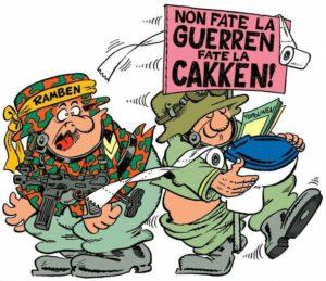 Two soldiers, Non fate la Guerren, fate la cakken
