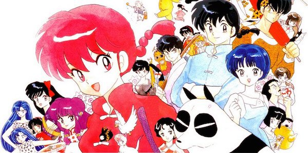 Ranma and all the subjects from the cartoon