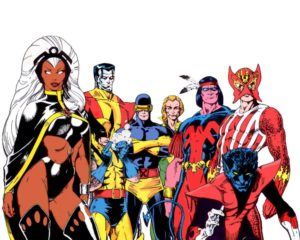 5 X-Men in a picture, Marvel Comics