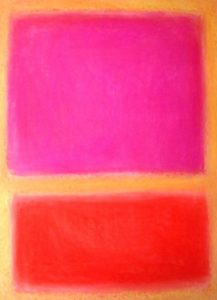 rothko three colours pink, red and yellow